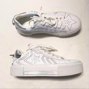 white star platform sneakers